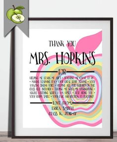 Retirement poems for teacher assistants google search retirement printable apple thank you artwork you add your own reasons to be thankful great art yelopaper Images