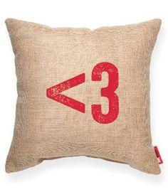 <3 Decorative Throw Pillow