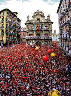 Running of the Bulls, San Fermin Festival @ Pamplona Spain. Festivals Around The World, Places Around The World, The Places Youll Go, Travel Around The World, Places To See, Around The Worlds, San Fermin Pamplona, Running Of The Bulls, Barcelona