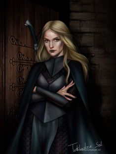 I think this is Feyre because of her eyes, but sorry if  I'm wrong