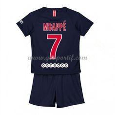 Paris Saint Germain PSG maillot de foot enfant 2018-19 Kylian Mbappé 7 maillot domicile Maillot Paris Saint Germain, St Germain Paris, Psg, Saints, Football, Gera, Unitards, Soccer, Futbol