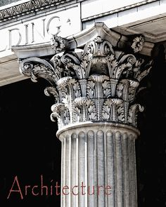 A classical column detail celebrating the art of Architecture.