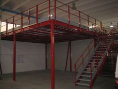 Red simple mezzanine