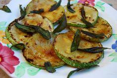 Golden Zucchini with crisp Sage