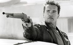 Arnie as the Terminator
