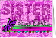 happy birthday sister-n-law | Happy Birthday Sister in Law card - Product #168978