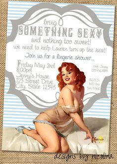 Something Sexy Vintage Pin Up Lingerie Shower by designsbynicolina, $15.00 - vanity fair intimates, buy intimates online, classy lingerie *ad