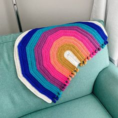 Rainbow Drop Blanket pattern by Melu Crochet Baby Afghan   Etsy Baby Afghan Crochet, Baby Afghans, Crochet Blanket Patterns, Crochet Stitches, Stitch Patterns, Crochet Blankets, Easy Crochet, Modern Crochet Patterns, Rainbow Crochet