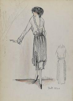 Cheruit, sketch 035-058, fall 1920.
