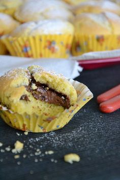 today is a beautiful day: first because it pours after pe … – Kitchenware Molten Cake, Keep Recipe, Cooking Chef, Chocolate Muffins, Mini Muffins, Mini Desserts, Muffin Recipes, Relleno, Italian Recipes