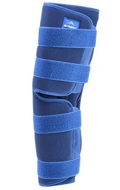 ACTIMOVE GENU ECO KNEE IMMOBILISER- Designed to help temporary immobilisation of the knee in a straightened position following injury or trauma. The knee immobiliser can be used during post-operative recovery to help rehabilitation and to assist controlled walking.A$56.95.