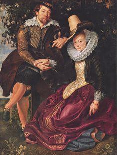 Rubens, Peter Paul: Selbstporträt des Malers mit seiner Frau Isabella Brant in der Geißblattlaube - Gemeinfrei