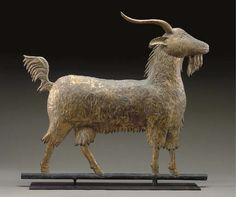 An antique copper goat weathervane from last century#Repin By:Pinterest++ for iPad#