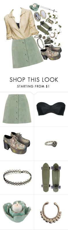 """""""Milkweed"""" by shinedownsiren ❤ liked on Polyvore featuring Topshop, L'Agent By Agent Provocateur, Pyrrha, Saro Lifestyle, VidaKush and Thomas Sabo"""
