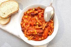 Chili con Pasta All in One Thermomix vegetarisch vegan
