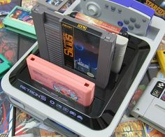Give new life to all your old video games with this retro multi-platform gaming console. The RetroN 5 is the ultimate system for old school gamers - it lets you play original cartridge NES, SNES, Genesis, Famicom, and Game Boy Advance games all in one device!