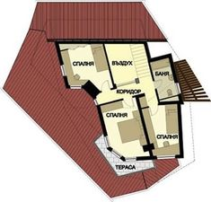 Plan etaj casa de vacanta Case