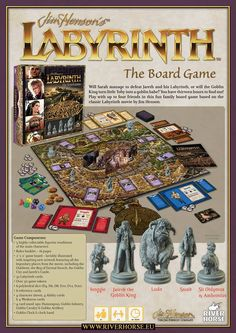 Expected Release: November, Date subject to change. Description: Will Sarah manage to defeat Jareth and his Labyrinth, or will the Goblin King turn little Toby into a goblin babe? You have thirt David Bowie Labyrinth, Labyrinth 1986, Labyrinth Movie, Labyrinth Quotes, Labyrinth Board Game, Jim Henson Labyrinth, Best Family Board Games, Labrynth, Horse Games