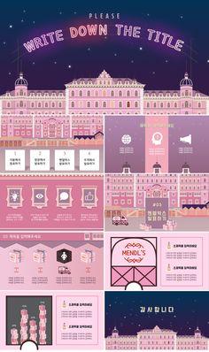 Grand Budapest Hotel concept PowerPoint templates is part of Powerpoint design templates - s Powerpoint Layout, Design Powerpoint Templates, Business Powerpoint Presentation, Graphic Design Templates, Web Design, Slide Design, Webdesign Layouts, Sketch Note, Design Presentation