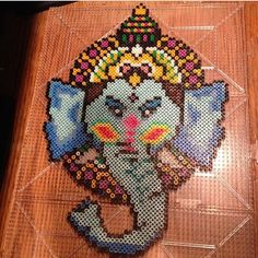 Ganesha perler bead art by kingkandi559 -- I'm so making this!!
