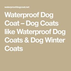 Waterproof Dog Coat – Dog Coats like Waterproof Dog Coats & Dog Winter Coats Dog Winter Coat, Winter Coats, Diy Dog Shampoo, Waterproof Dog Coats, How To Make Money, Homemade Things, Dogs, Thunder Jacket, Pet Dogs