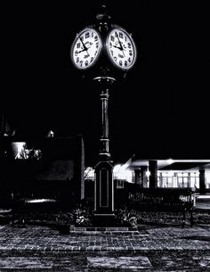 The clock tower at Robinson Secondary School in Fairfax, Va. © 2010 Wayne V. All rights reserved. The Time Tunnel, Outdoor Clock, World Cities, Secondary School, Oh The Places You'll Go, Have Time, Black And White Photography, Photo Art, Landscape Photography