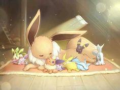 #Pokemon Eevee Vaporeon Jolteon Flareon Espeon Umbreon Leafeon Glaceon Sylveon