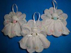 White eyelet angel tree decoration handmade by AudreysAngels