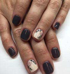 Matte grey and white nails with details Get Nails, Love Nails, How To Do Nails, Pretty Nails, Hair Skin Nails, Nail Envy, White Nails, Black Shellac Nails, Short Nails