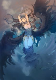 jujumaho (nanigaxila) overlord albedo (overlord) dress horns see through wet wet clothes wings Manga Anime, Manga Girl, Anime Art, Albedo, Overlord Anime Season 2, Character Art, Character Design, Doodle Drawing, Anime Angel