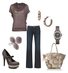 Rane by jennifer-garcia-llanes on Polyvore featuring Hudson Jeans, Jessica Simpson, Coach, Givenchy, Pilgrim and FOSSIL