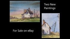 2 Original Line and Wash Watercolors by Peter Sheeler. For sale on eBay. Peter Sheeler, Sale On, Paintings For Sale, Watercolors, Cabin, Youtube, Ebay, Water Colors, Cabins