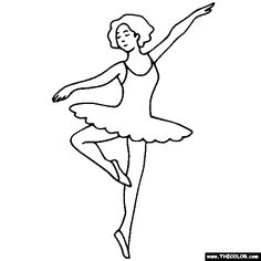 100% Free Ballerina and Ballet Dancer Coloring Pages. Color in this picture of a Ballerina and others with our library of online coloring pages. Save them, send them; they're great for all ages.