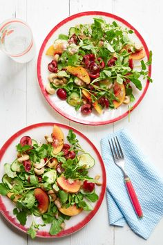 Gingery Watercress-and-Cherry Salad