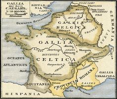CC Cycle 1 Week 6 Nice Overview of ancient cultures Ancient France - The Ancient World of the Gauls and Franks French History, European History, World History, Ancient History, Old Maps, Antique Maps, Gaule Romaine, Celtic Nations, Historical Maps
