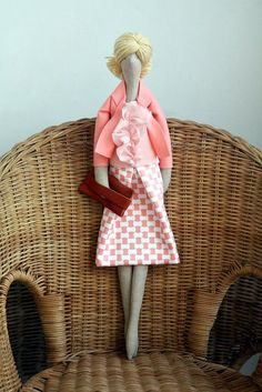 Custom OOAK Fabric Doll Made To Order