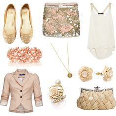 Golden Pink, created by eritter on Polyvore