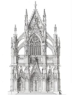 """North Portal of Cologne Cathedral, Germany - ORIGINAL"" - Original Fine Art for Sale - © John Simlett"