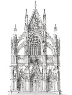 """North Portal of Cologne Cathedral, Germany - ORIGINAL"" - Original Fine Art for Sale - © John Simlett"
