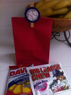 Baseball party goodie bags