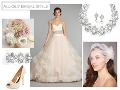 All-Out Bride in Blush Tulle Ballgown