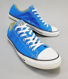 146f0245023 Converse All Star Hyper Royal Blue Low Top Tennis Shoes Mens Size 11.5  Minty!