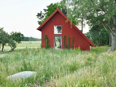 Bollbacken Cottage / Söderberg Söderberg | ArchDaily Tiny House, Glass Pocket Doors, Glass Door, Brick Laying, Wooden Steps, Old Cottage, Open Fireplace, Wood Siding, Contemporary Architecture