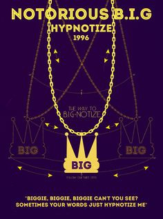 The Notorious B.I.G., Hypnotize | 19 Perfect Minimalist Rap Posters