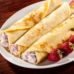 Recipes of 5 ideas for sweet crepe fillings - Postres - Banana Pudding Recipes, Waffle Recipes, Crepes Rellenos, Crepes And Waffles, Brunch, Griddle Cakes, Crepe Cake, Crepe Recipes, Sweet Cakes