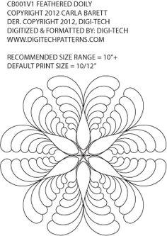 pattern by Carla Barrett carried by Digitech Patterns