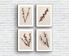 Branch WIth Flowers/Branches/Botanical print set/Watercolour/Flowers/Downloadable prints/Antique/Vintage/Printable Set/Wall Art/Art Watercolour Flowers, Watercolor Print, Botanical Flowers, Botanical Prints, As You Like, Just In Case, Frame Download, International Paper Sizes, Etsy App