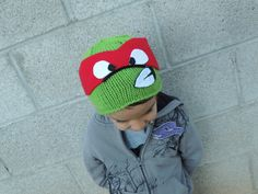 Teenage Mutant Ninja Turtles beanie child by MyLoopyLilMonsters, $30.00