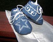 Personalized Dallas Cowboy infant shoes