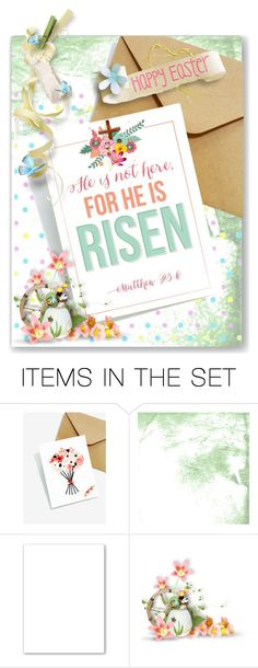 """""""Happy Easter Greeting"""" by shortyluv718 ❤ liked on Polyvore featuring art"""